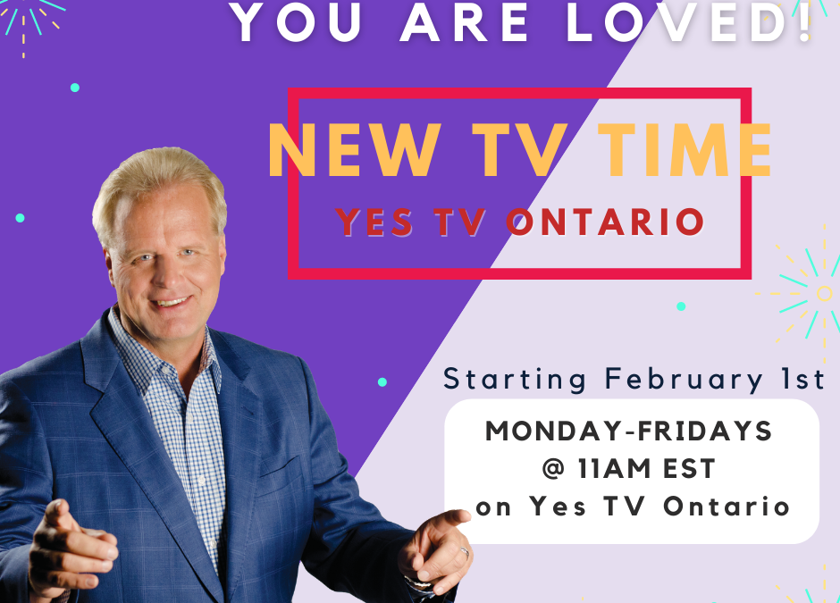 NEW TV TIME – every weekday at 11AM EST on Yes TV Ontario